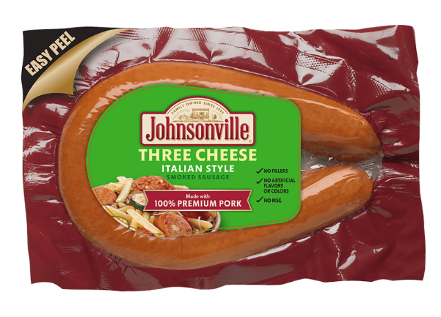 Three Cheese Italian Style Rope Sausage