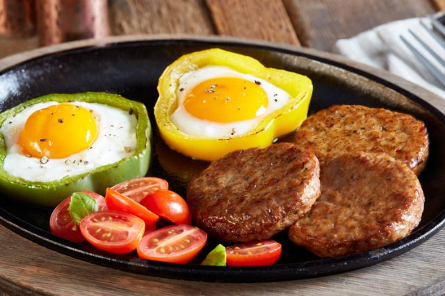 Image of Pepper Ring, Sausage And Egg