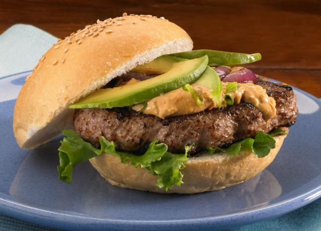 Image of Amazing Asian Burgers with Spicy Sesame Spread