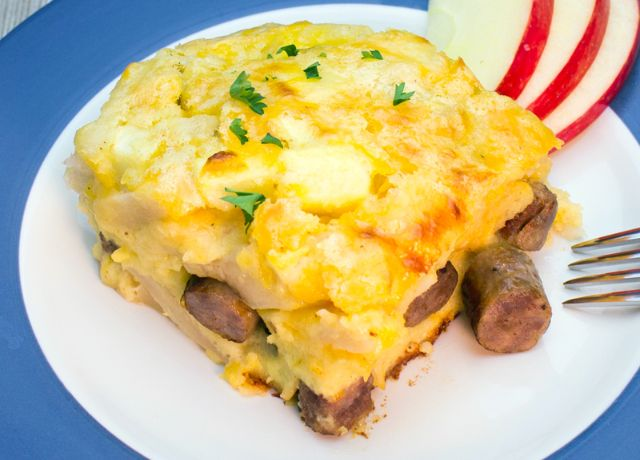 Image of Apple-Cheddar Sausage Bake
