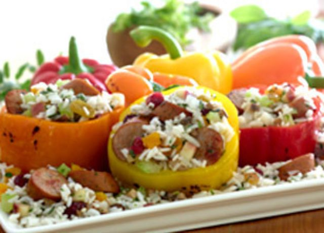 Image of Johnsonville Apple Chicken Sausage and Rice Stuffed Peppers