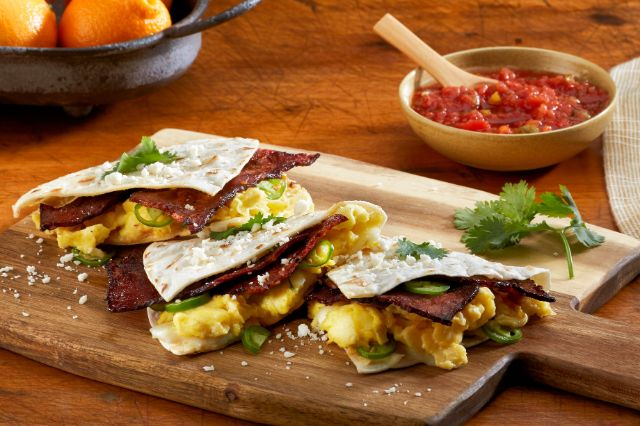 Image of Sausage Strips Breakfast Quesadilla