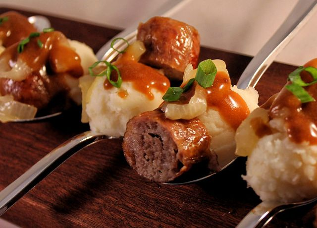 Image of Bite Size Bangers and Mash