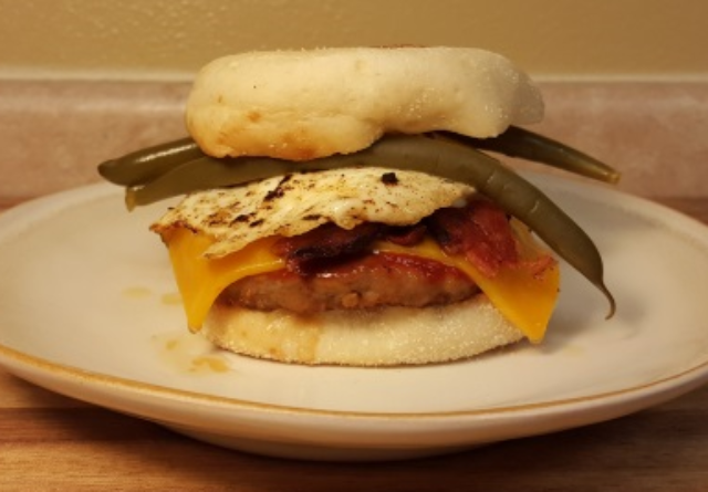 Image of Bloody Mary Breakfast Brat Burger