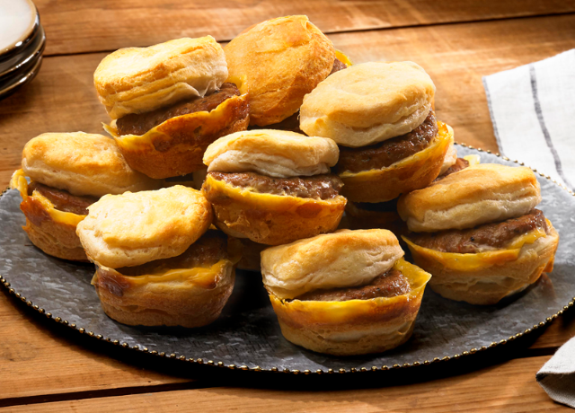 Image of Breakfast Pattie Sliders with Cheese