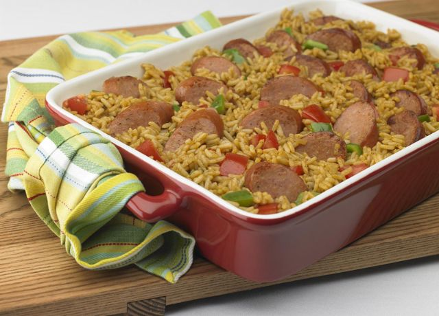 Image of Cajun Sausage and Rice Bake