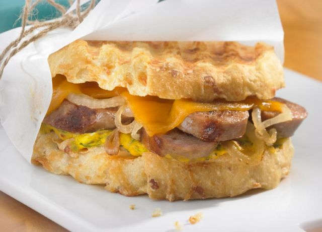 Image of Cheddar Dill Panini with Johnsonville Orignal Brats