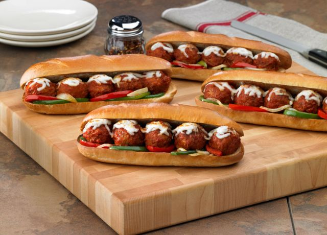 Image of Cheesy Meatball Sandwiches