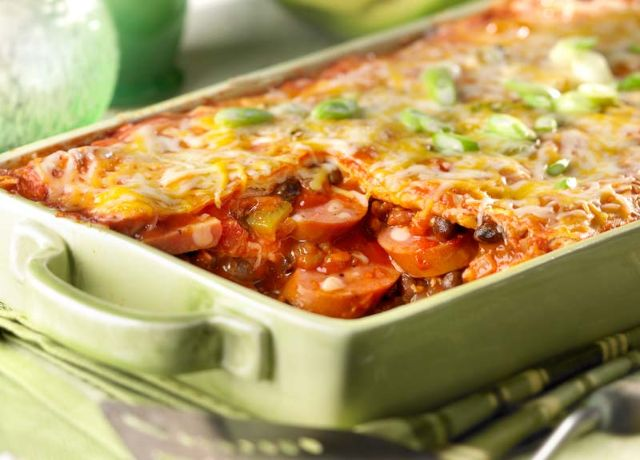 Image of Chipotle Chicken Sausage Baked Enchilada