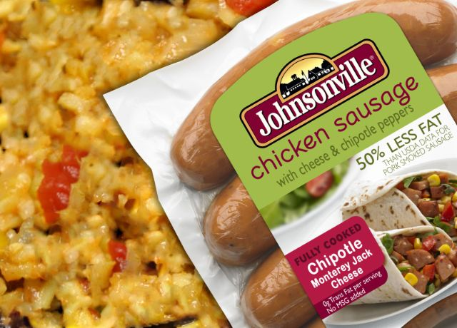 Image of Johnsonville Chipotle Monterey Jack Cheese Chicken Sausage with Southwestern Style Rice