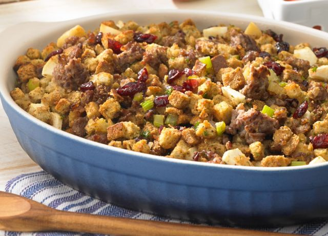 Image of Cranberry Apple Sausage Stuffing