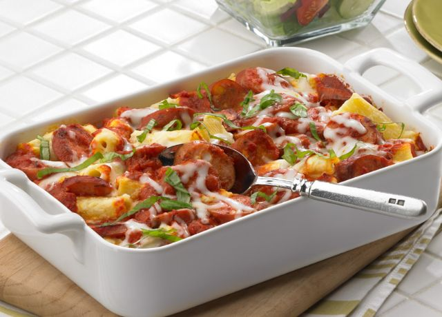 Image of Fast 'n' Easy Baked Ziti -- Sizzling Sausage Grill Recipe