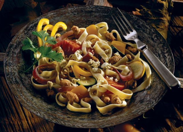 Image of Fettuccine with Roasted Tomatoes, Vegetables & Sausage