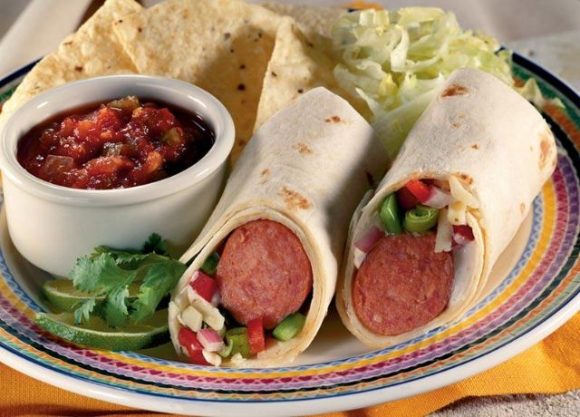 Image of Firestorm Burrito -- Sizzling Sausage Grill Recipe