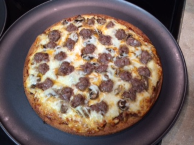 Image of Garret's Johnsonville Brat Pizza
