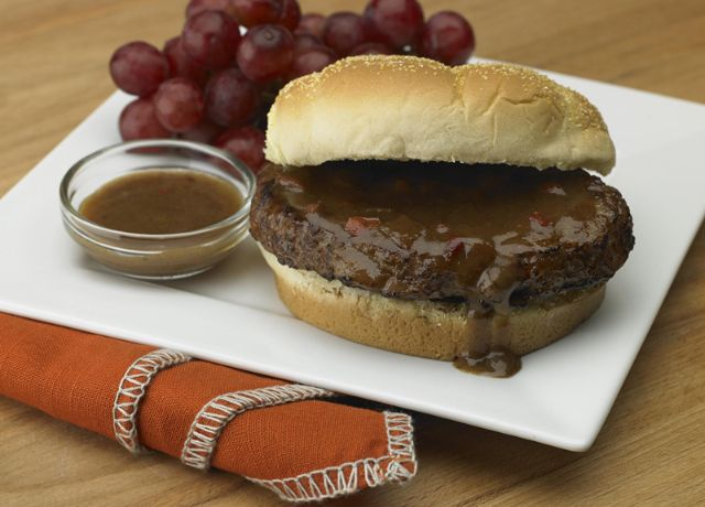 Image of Johnsonville® Grillers™ with Mustard and Beer Gravy