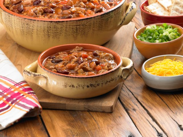 Image of Hearty Two Bean & Sausage Chili