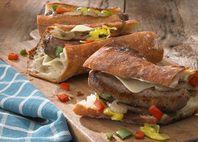 Image of Italian Four Cheese Sausage Hoagie