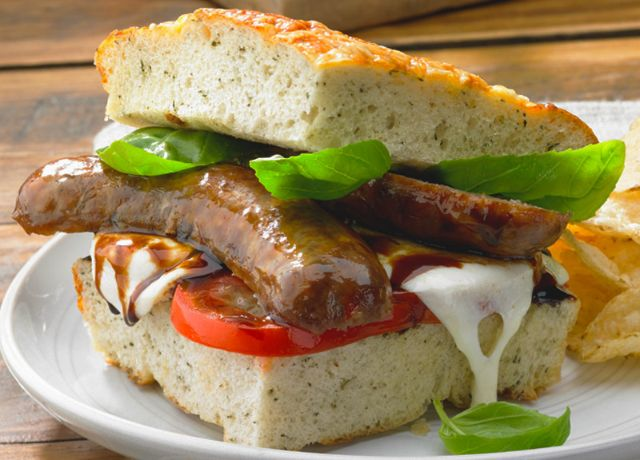 Image of Italian Sausage Melt -- Sizzling Sausage Grill Recipe