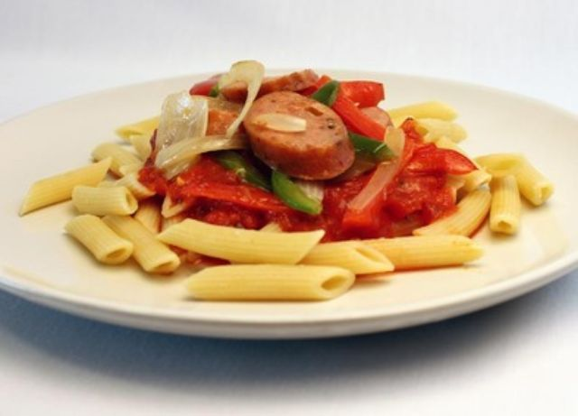 Image of Italian Sausage and Pasta Dinner