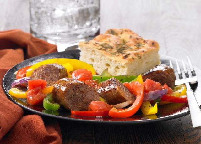 Image of Italian Sausage & Pepper Skillet -- Sizzling Sausage Grill Recipe