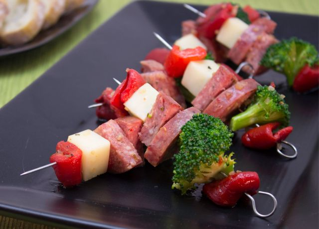Image of Italian-Style Summer Sausage Kabob