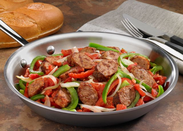 Image of Johnsonville Italian Sausage, Peppers & Onions Skillet