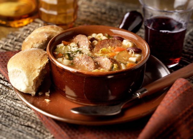 Image of Minestrone Soup with Italian Sausage