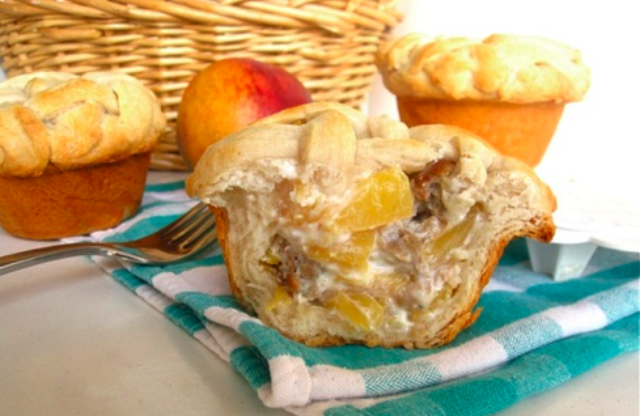 Image of Mini Peaches and Cream Breakfast Pies with Johnsonville® Maple Sausage