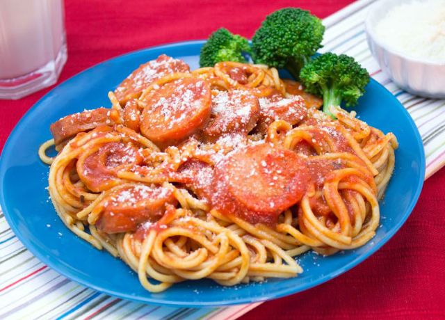 Image of One-Pan Spaghetti and Sausage