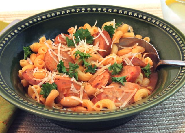 Image of Pasta Fagioli with Johnsonville Three Cheese Italian Style Chicken Sausage