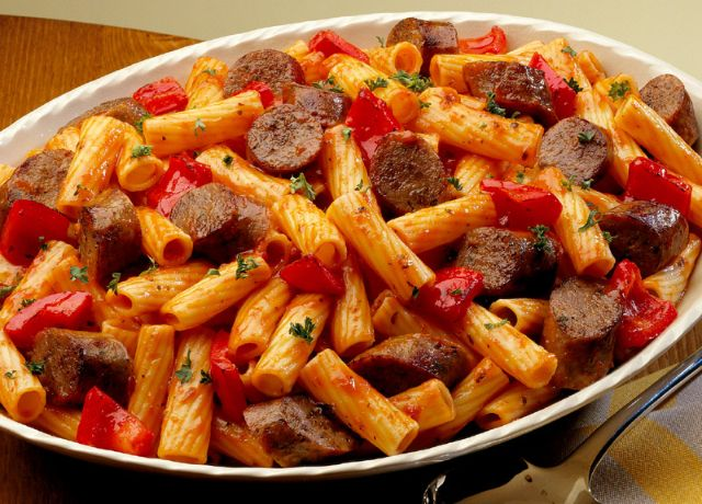 Image of Rustic Rigatoni -- Sizzling Sausage Grill Recipe