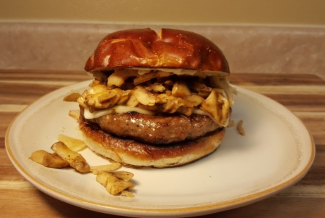 Image of Saucy Steakhouse Mushroom Burger