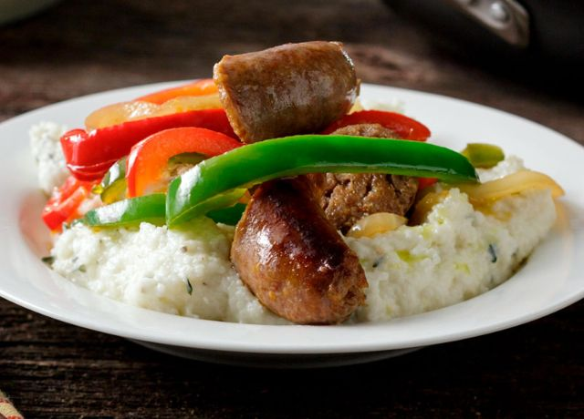 Image of Sausage, Peppers & Grits