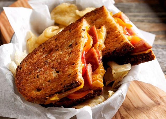 Image of Sausage and Pepper Chipotle Grilled Cheese