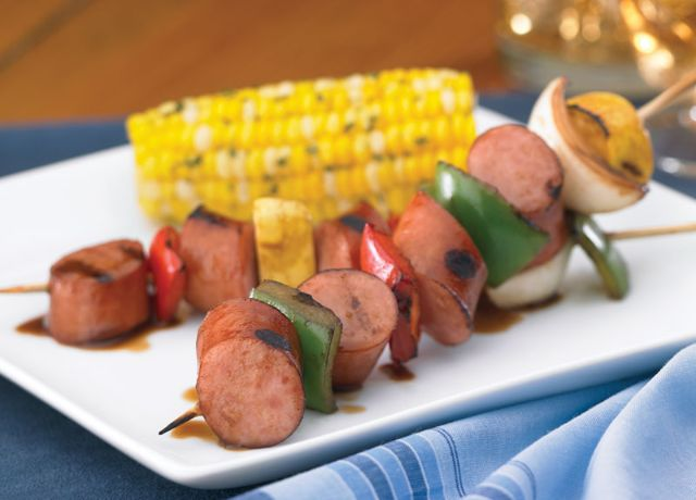 Image of Smoked Brat Kabobs