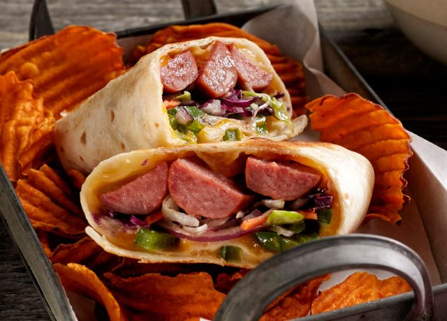 Image of Southern Barbecue Sausage Wrap