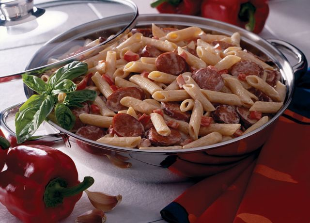 Image of Spicy Sausage Pasta Alfredo