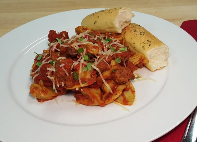 Image of Spinach Cheese Tortellini with Italian Sausage
