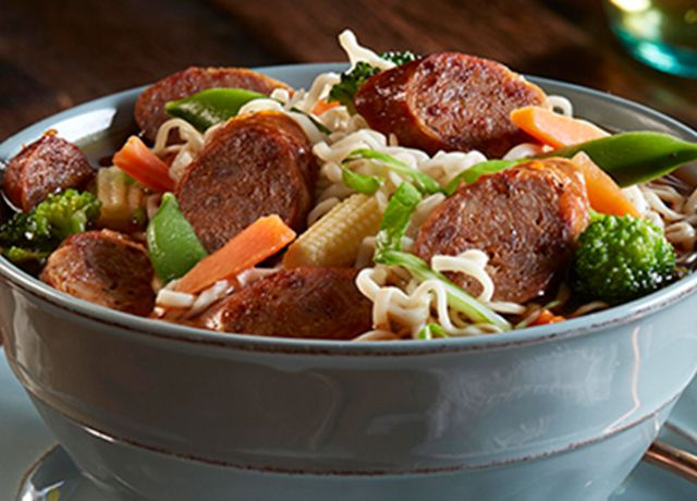 Image of Sweet & Spicy Sausage Ramen Bowl