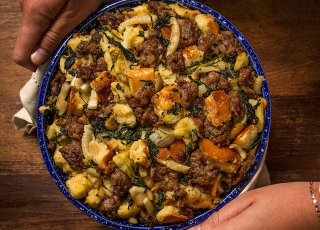 Image of Toasted Brioche, Spinach & Sausage Stuffing