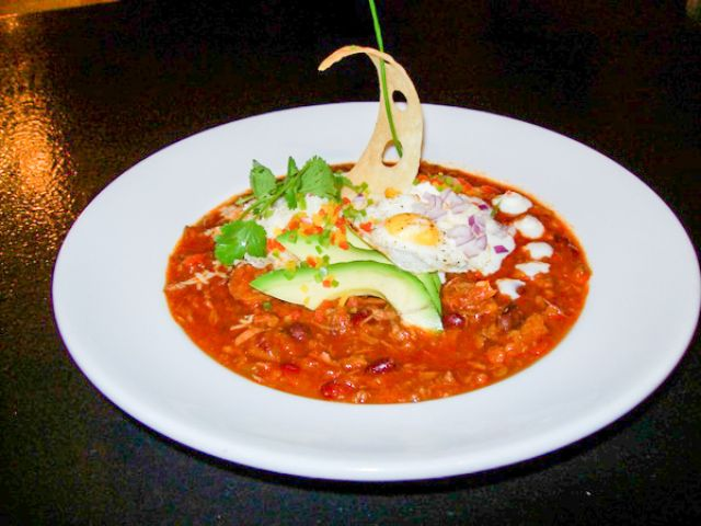 Image of Treasure Island Chili with Lime Crème Fraiche!