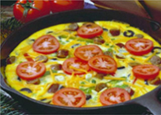 Image of Wake Up Frittata -- Sizzling Sausage Grill Recipe