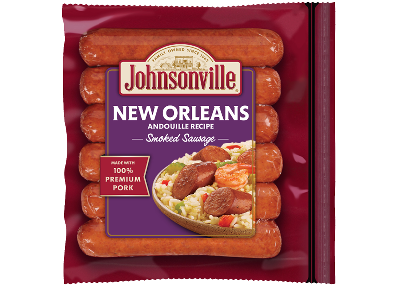 New Orleans Y Smoked Sausage Links Johnsonville