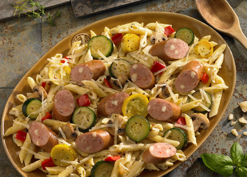 Rustic pasta alfredo with johnsonville three cheese - Does olive garden have gluten free pasta ...