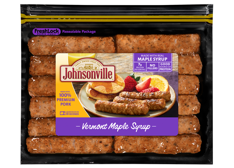 Product Image of Johnsonville Vermont Maple Syrup Fully Cooked  Breakfast Sausage